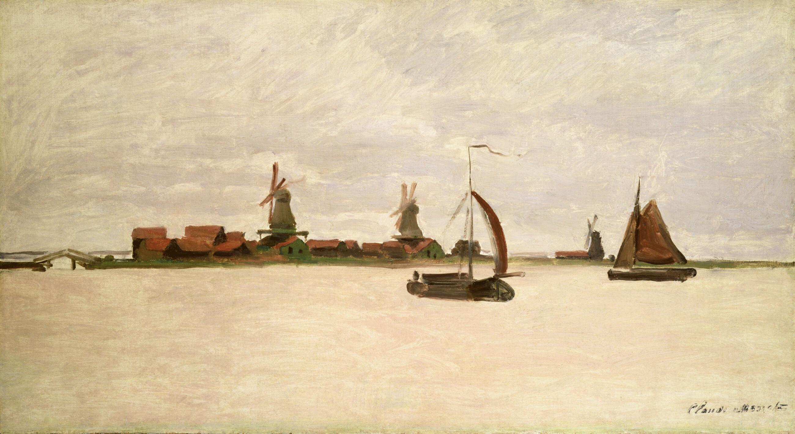 Schilderij Claude Monet De-Voorzaan-en-de-Westerhem-