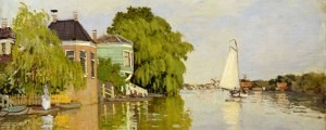Schilderij Monet van een theekoepel aan de Zaan